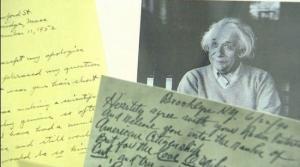 عرض رسالة تطالب أينشتاين بحلق شعره