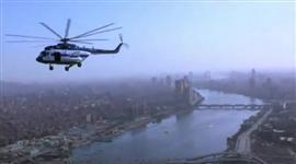 تحليق أول طائرة تابعة للشرطة المصرية في سماء القاهرة