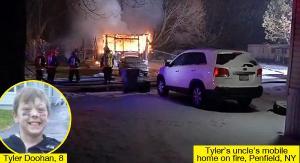 أمريكا : طفل الثامنة ينقذ 6 أشخاص من حريق قبل أن يلق حتفه