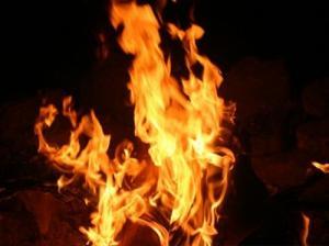 هندي يشعل النار في نفسه ويقفز علي زعيم سياسي ليحترق معه أمام عدسات التلفزيون