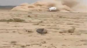 إيران : هبوط طائرة اضطرارياً على الرمال  بعد أن تعطلت عجلاتها
