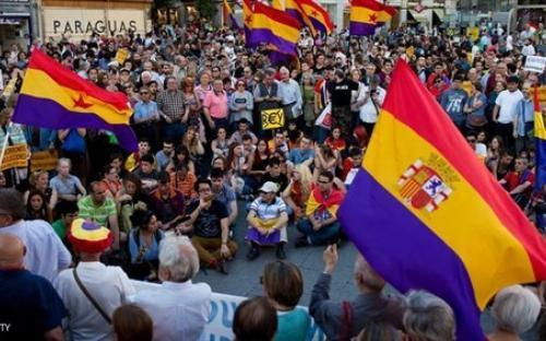 أسبانيا : تظاهرات شعبية لإسقاط