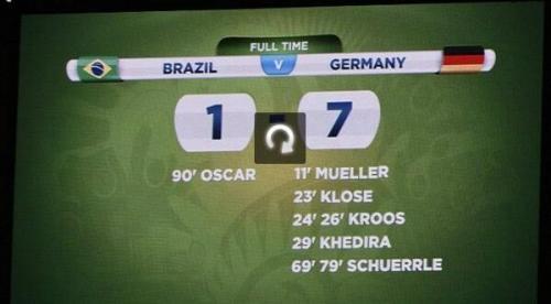 أهداف ألمانيا السبعة حيرت مخرجي المباراة مع المنتخب البرازيلي