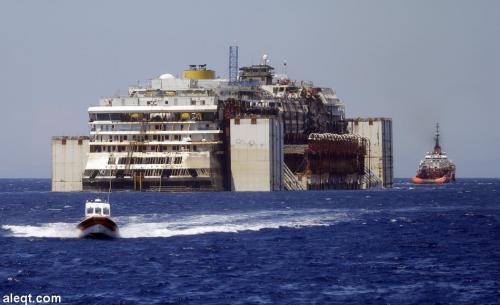 أكبر عملية إنقاذ بحري في التاريخ لإزالة حطام السفينة السياحية العملاقة