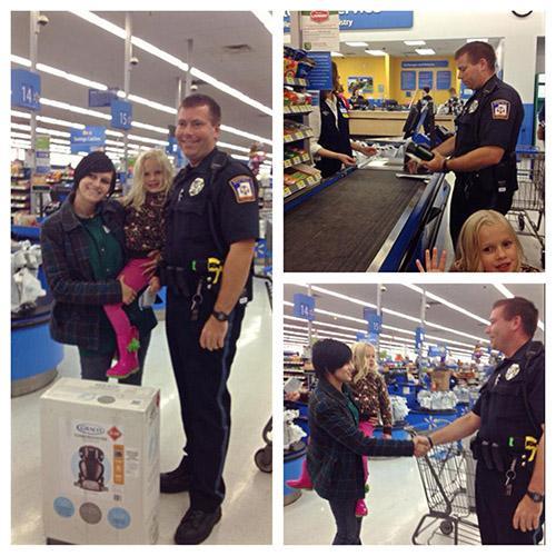 أمريكا : سيدة ترتكب مخالفة وضابط الشرطة يقدم لها هدية بدلاً من الغرامة