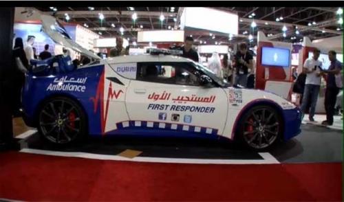 دبي تستخدم سيارة سباق للإسعاف في الحالات الحرجة