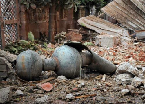 رياح شديدة تسقط جزء من مئذنة مسجد آثري بمصر