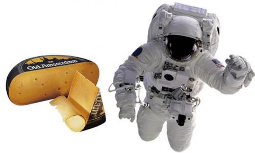 صاروخ يحمل وجبة دلفري من الجبن الهولندي الفاخر لرائد فضاء