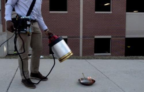 أختراع جهاز لإطفاء الحرائق بواسطة الموجات الصوتية
