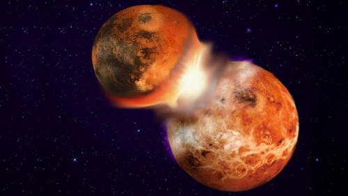 علماء يتمكنوا من حل لغز نشأة وتكون القمر