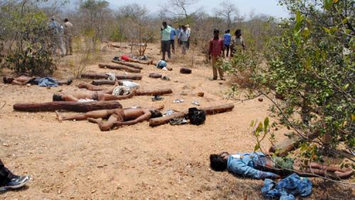 الشرطة الهندية تقتل  العشرات من مهربي الأخشاب