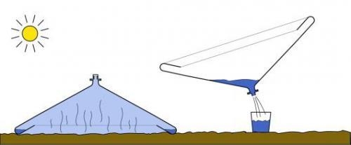 أبتكار أداة بسيطة ورخيصة لتنقية مياه البحر وتحويلها صالحة للشرب