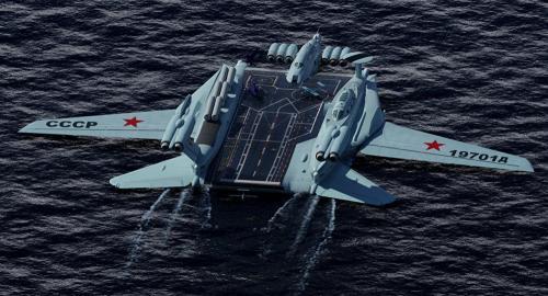 روسيا: تصنع أول حاملة طائرات في العالم قادرة علي الطيران