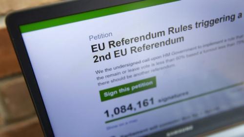 بريطانيا : أكثر من 2.5 مليون توقيع للمطالبة باستفتاء جديد