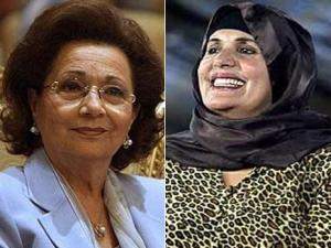 أنتحال شخصيتي زوجتي القذافي ومبارك عبر الإنترنت