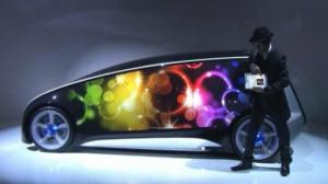 شركة تويوتا تصميم سيارة تغير لونها حسب رغبة صاحبها