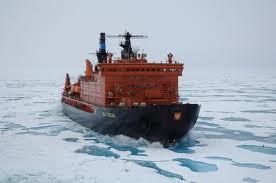 أنقاذ سفينة صيد روسية  ظلت عالقة في جليد القطب الجنوبي