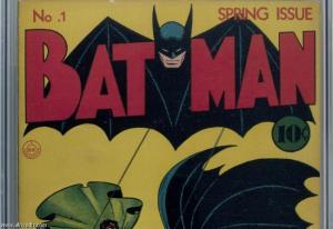 بيع  نسخة من العدد الأول لمجلة (باتمان) بما يزيد عن نصف مليون دولار